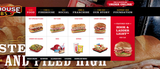 Firehouse Sub Website