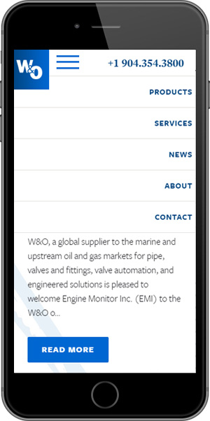 W&O Supply Mobile Menu